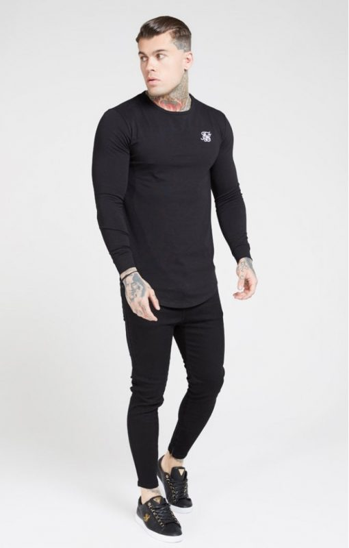 Sik Silk L//s Core Gym Tee Black